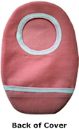 Pink Ostomy Cover back